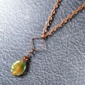 River Agate Copper Necklace